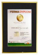 Dyplom FERMA Nowość dla Profical plus bolus