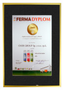 Dyplom FERMA Nowość dla żeli do wymion EVO